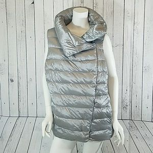 Ralph Lauren - NWT2X silver funnel-neck down vest